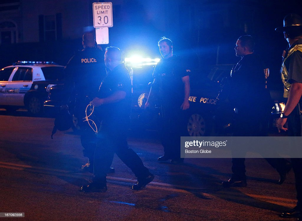 The scene at the intersection of Franklin and Mount Auburn Streets in Watertown shortly after the capture of the second suspect After an intense...