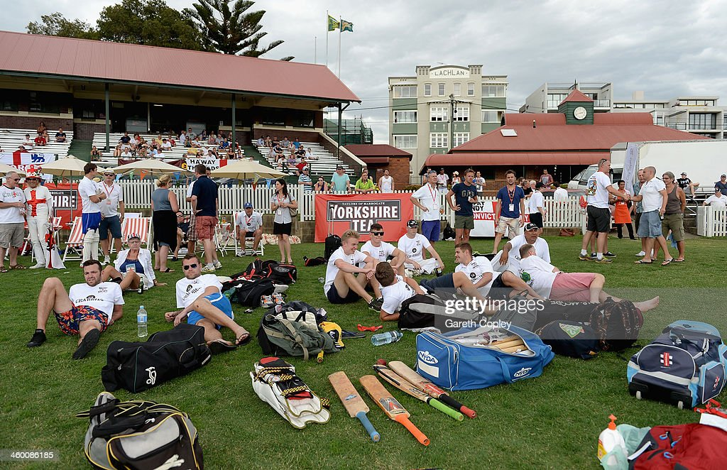 The scene during the Yorkshire Tea Beach Party at Coogee Beach on January 2, 2014 in Sydney, Australia.