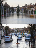COMPOSITE IMAGE In this composite a comparison has been made between the High Street in Cockermouth photographed on December 6 2015 and on December 8...
