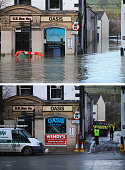 COMPOSITE IMAGE In this composite a comparison has been made between a scene in Cockermouth High Street photographed on December 6 2015 and on...