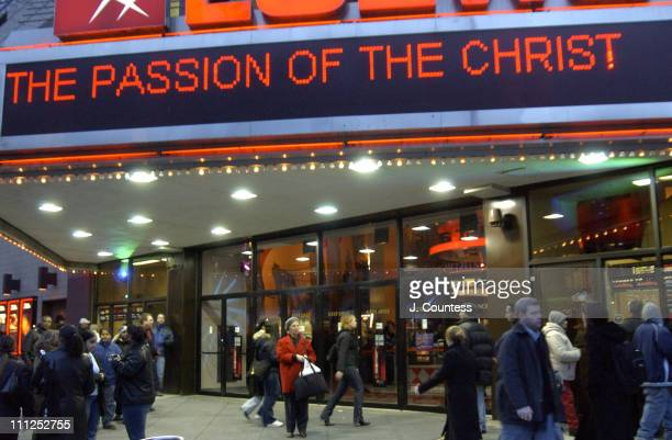 The scene outside of the Loews 84th Street complex before a screening of 'The Passion of the Christ'