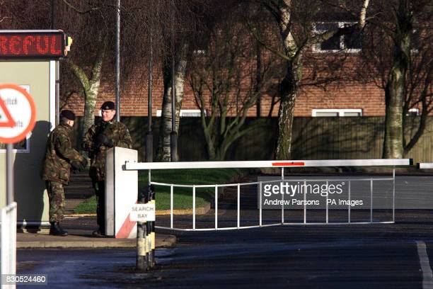 The scene outside Swanton Morley in Norfolk where fifteen soldiers face dismissal from the Army after failing drug tests The soldiers all members of...