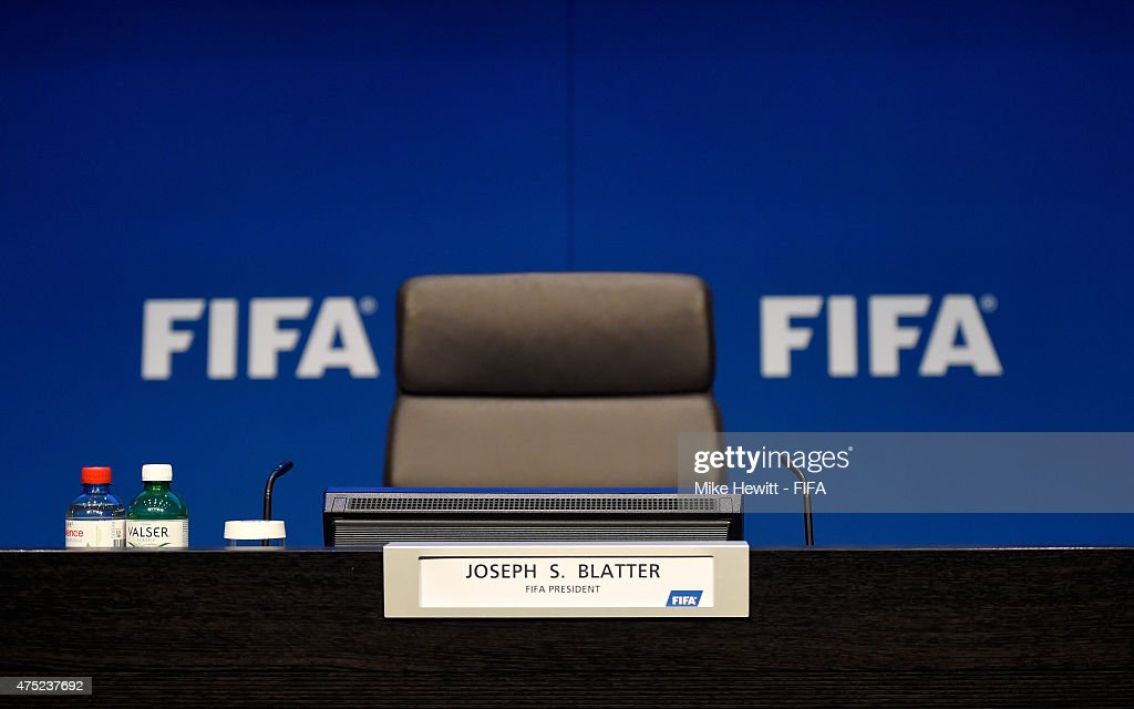 The scene prior to the post 65th FIFA Congress press conference at FIFA Headquarters on May 30, 2015 in Zurich, Switzerland.