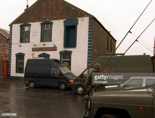 The scene where a cache of oneandhalftonnes of homemade explosives were discovered in vacant premises called Molley Malones in Howth north Dublin...