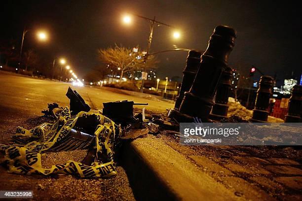 The scene where CBS News correspondent Bob Simon died in car accident on Manhattan's west side on February 11 2015 in New York CityThe awardwinning...
