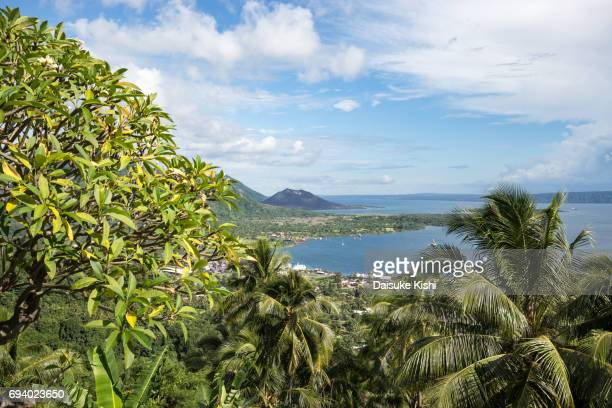 The Scenery of Rabaul from the Vulcanology Observatory, Papua New Guinea