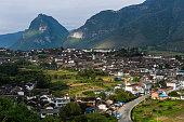 The scenery of Shigu Town, Yunnan