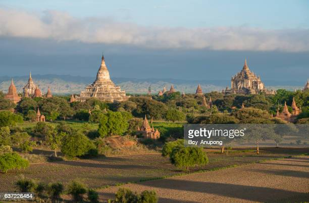 The scenery view of Bagan plains the land of ancient pagoda in Mandalay region of Myanmar.