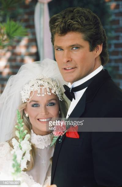 RIDER 'The Scent of Roses' Episode 12 Pictured Catherine Hickland as Stevie Mason David Hasselhoff as Michael Knight Photo by Paul...