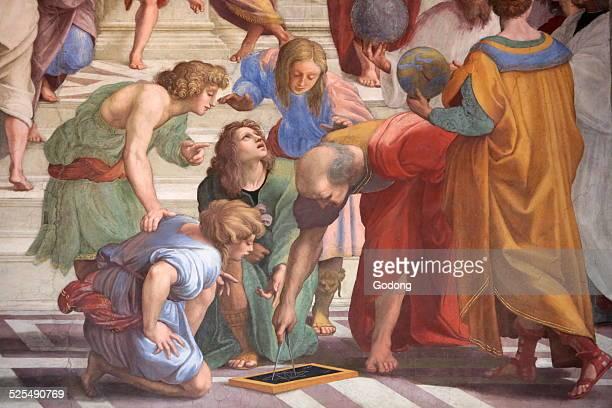 The School of Athens Fresco Italian painter Raphael From 1509 to 1510 Segnatura Vatican Museum