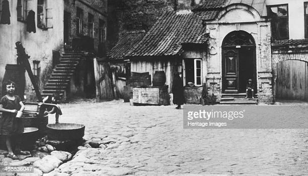 The Schulhof in Vilna Poland Formerly the foremost centre of rabbinical learning in Europe the Polish city of Vilna was occupied first by Soviet...
