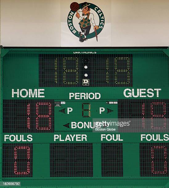 The scoreboard was full of the number 18 as the Celtics get set to open training camp in pursuit of NBA title number 18 The Boston Celtics held their...