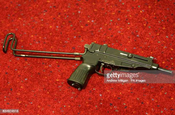 The Scorpion machine pistol weapon which was found in the car hired by Michael Ross an Iraq war hero serving a life sentence for murdering a...