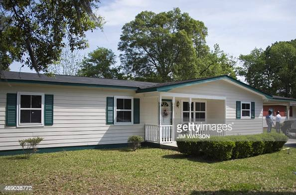 The Scott family home is viewed on April 9 2015 in Charleston South Carolina Fiftyyearold Walter Scott a father of four was fatally shot April 4 2015...