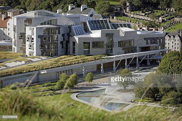 The Scottish Parliament building is pictured in the Holyrood area of Edinburgh on September 30 2008 AFP PHOTO/Ed Jones