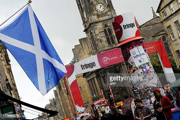 The Scottish Saltire hangs in Edinburgh on August 21 2013 during the annual Festival Fringe With just over a year to go before Scotland's historic...