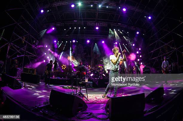 The Scottish singer Paolo Nutini on the stage with his band Caustic Love Tour Piazza Castello Ferrara 17th July 2015