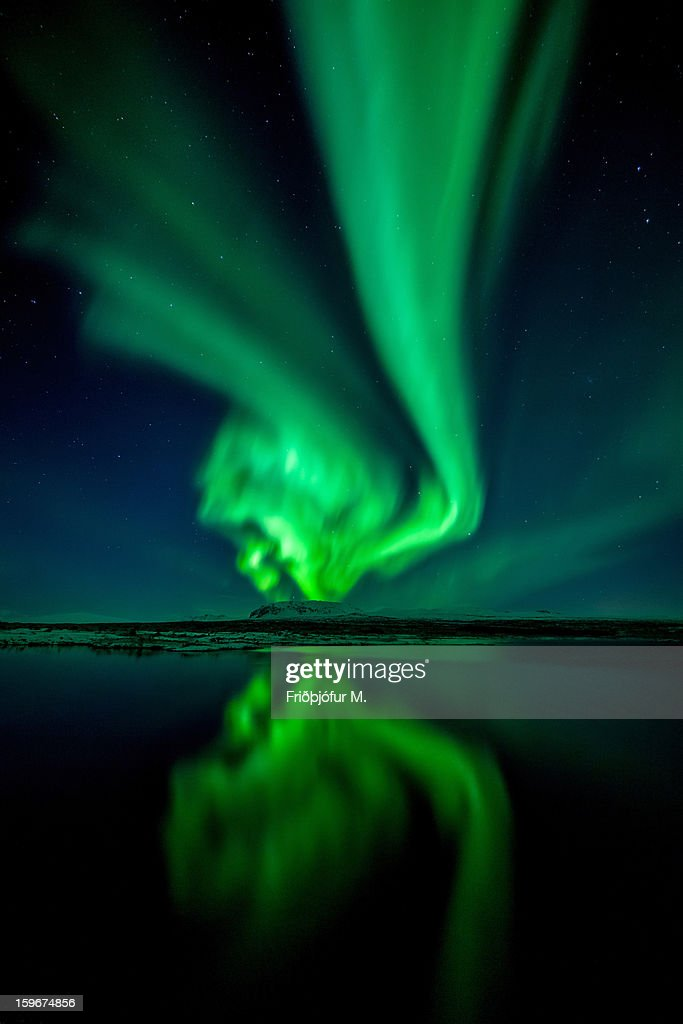 The Scream of Aurora : Stock Photo