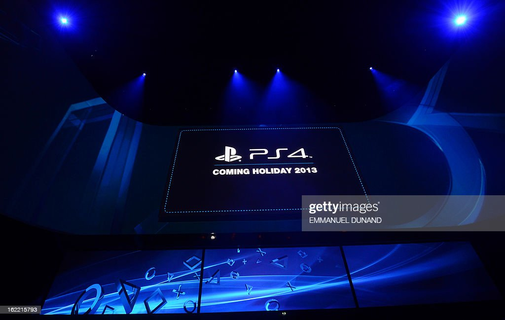 The screen as Sony introduces the PlayStation 4 at a news conference February 20, 2013 in New York.
