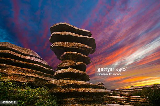 The screw in Natural park of Torcal de Antequera.
