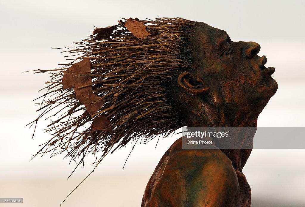 The sculpture 'Autumn' by Chinese artist Yang Fan ia shown at the 2nd China Documentary Exhibition of Fine Arts October 10, 2007 in Wuhan of Hubei Province, China. About 80 artists display their work during the event themed 'Forms of Concepts: The Reform of Concepts of Chinese Contemporary Art 1987 - 2007'.