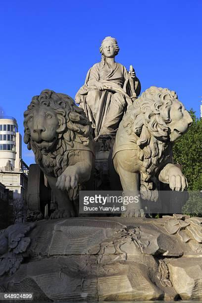 The sculpture of Cibeles Fountain