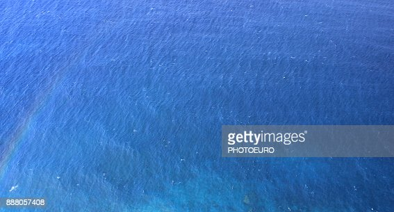 The sea from a bird's eye view. : Stock Photo