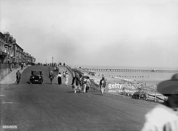 The sea front of Southwold in Suffolk circa 1920
