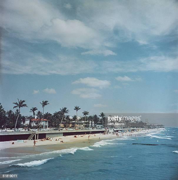 The sea front Palm Beach Florida 1955