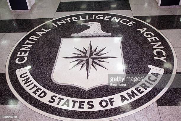 The seal of the Central Intelligence Agency on the floor of the foyer at the CIA Headquarters in Langley VA is shown in a photo taken Thursday March...