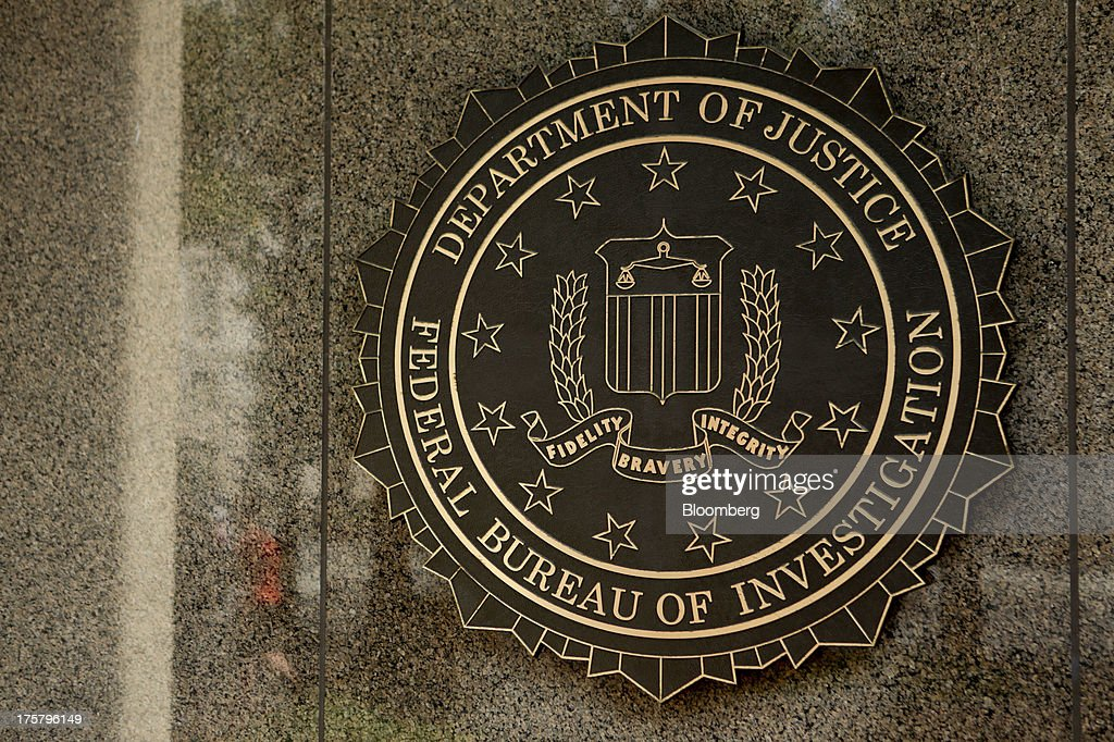 The seal of the Federal Bureau of Investigation is seen at the J Edgar Hoover building in Washington DC US on Thursday Aug 8 2013 The FBI is a...