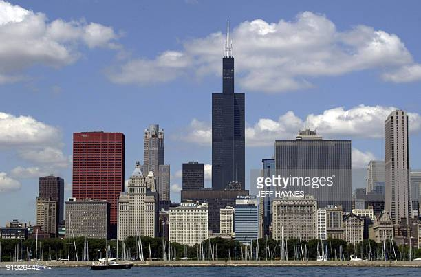 The Sears Tower is seen in this 12 July 2003 photo designed in the 1960s by the architectural firm of Skidmore Owings and Merrill Construction of the...