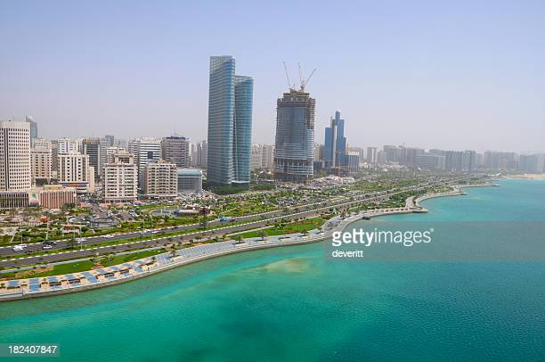 The seaside city of Corniche Abu Dhabi