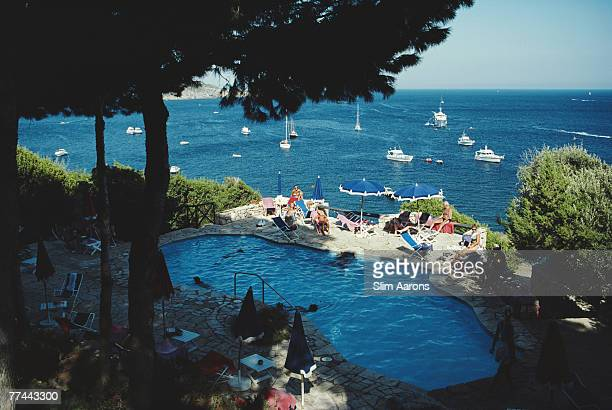 The seaside pool at the Hotel Il Pellicano in Porto Ercole Italy September 1986