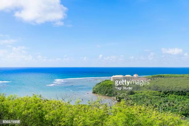 Die Küstenstraße in Guam