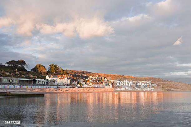 The seaside town of Lyme Regis.