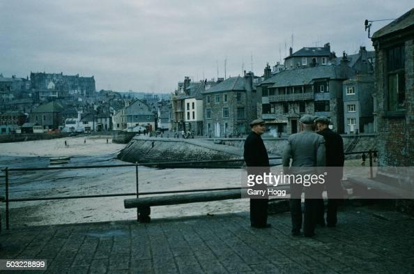 The seaside town on St Ives in Cornwall UK November 1958
