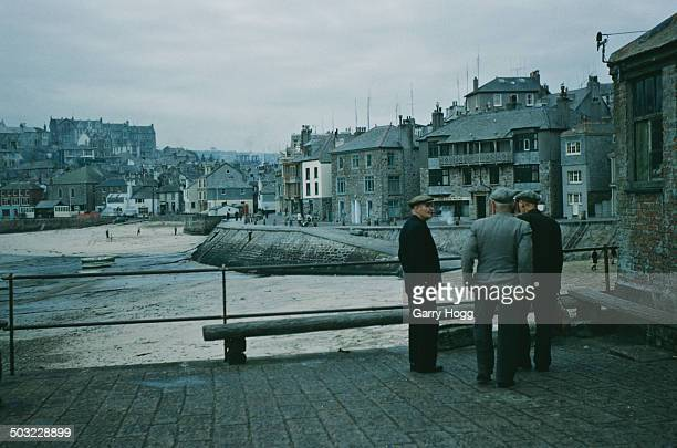 The seaside town on St Ives in Cornwall UK November 1958