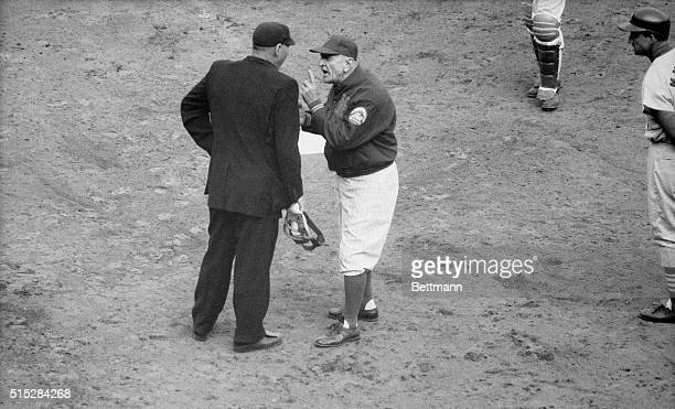 The season for the Mets was hardly an hour old and there was their manager Casey Stengel showing midseason form as he argued with umpire Frank Secory...