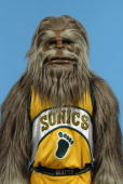 The Seattle Sonics mascot poses for a portrait during Sonics Media Day on October 3 2005 in Seattle Washington NOTE TO USER User Expressly...