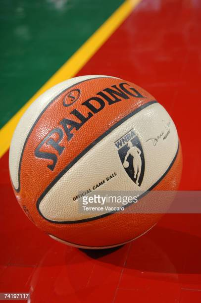The Seattle Storm and the Houston Comets play their first regular season game with the new WNBA Ball from Spalding on May 19 2007 at the Key Arena in...