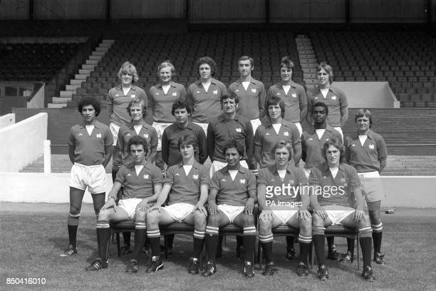 The Second Division Leyton Orient FC players lineup for a team picture at their Brisbane Road ground Tony Grealish David Payne Peter Bennett Gerry...