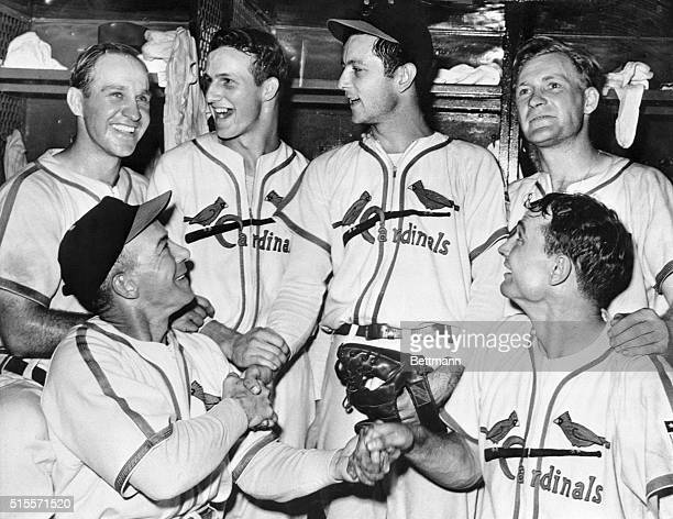 The Second One Was Better St Louis Missouri Happy Red Birds congratulate Johnny Beazley after he won the second game of the World Series with a 43...