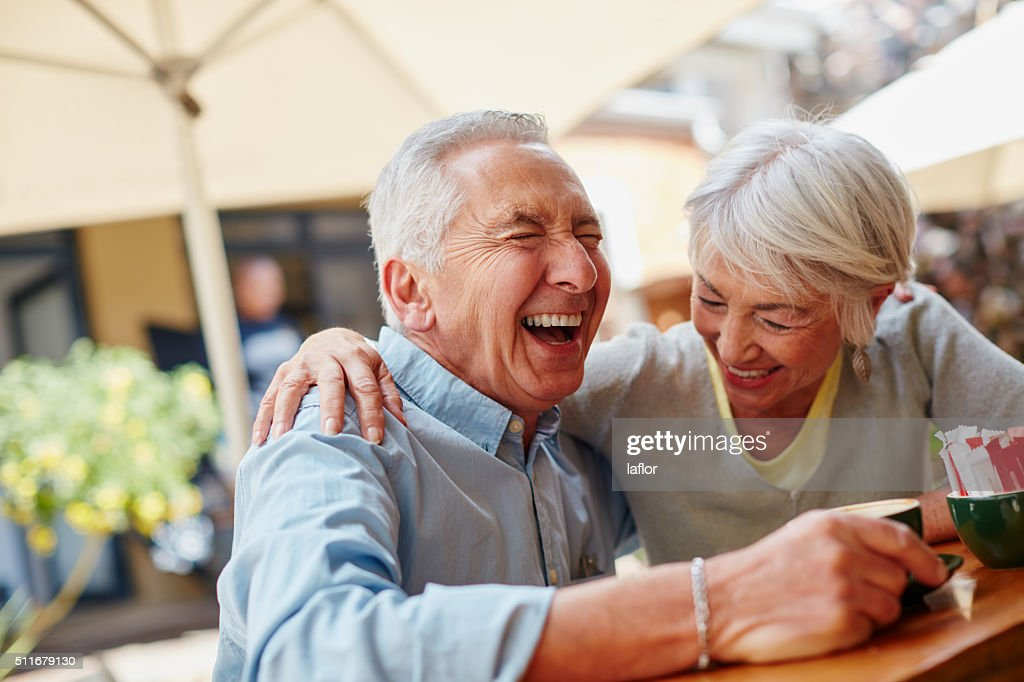 The secret to a happy marriage? Live, laugh and love : Stock Photo