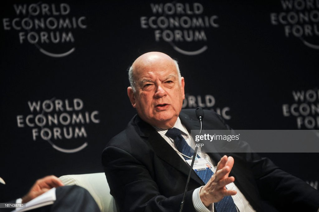 """The secretary general of the Organization of American States (OAS), Jose Miguel Insulza participates in the Eighth World Economic Forum for Latin America in Lima on April 25, 2013. For two days and under the theme """"Delivering Growth, Strengthening Societies"""", more than 600 regional and global leaders will discuss the opportunities and challenges that lie ahead to achieve the region's full potential"""