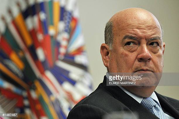 The Secretary General of the Organization of American States Jose Miguel Insulza takes part on June 5 2008 in Panama City in the inauguration of a...