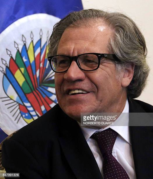 The secretary general of the Organization of American States Uruguayan Luis Almagro offers a press conference in Asuncion on July 14 2016 Almagro...