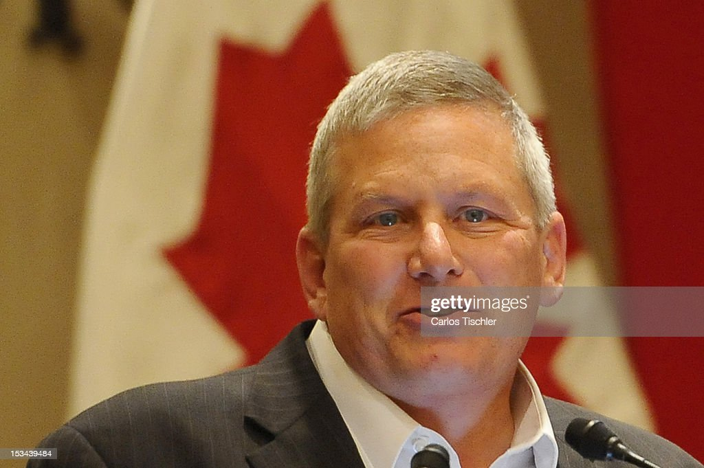 The Secretary of Agriculture of the State of Iowa Bill Northey, attends the inauguration of the 2012 Tri-National Agricultural Agreement, which seeks to increase the commercialization of products between Canada, United States and Mexico, on October 03, 2012 in Jurica, Queretaro.