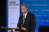 The Secretary of Agriculture Tom Vilsack makes remarks at The Washington Post via Getty Images forum 'Feeding the Future' on December 3 2014 in...