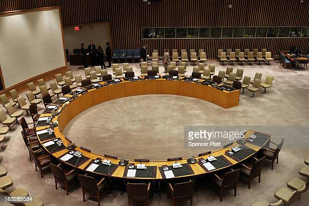 The Security Council is viewed before members meet in New York to vote on imposing a fourth round of sanctions against North Korea in an attempt to...